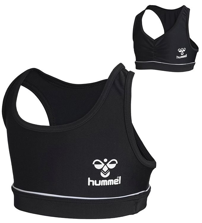 Hummel Bikini Top - HMLMedine - UV50+ - Sort/Hvid - 09 - Hummel,AA - Hummel,Badetøj - Basis,Bikini,Hummel Badetøj,Hummel Noos,Hummel Tilbud,Hummel Udsalg,Kamp 2,Pigetøj - Hummel
