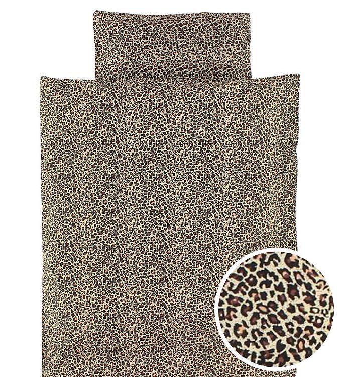 Billede af MarMar Sengetøj - Baby - Brun leopardprint