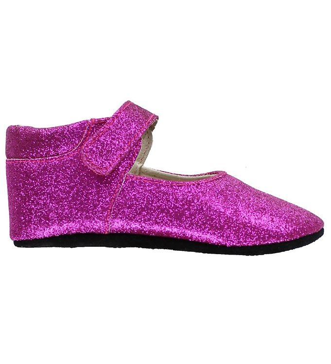 Image of   Fuzzies Ballerina Hjemmesko - Amalie - Pink m. Glimmer