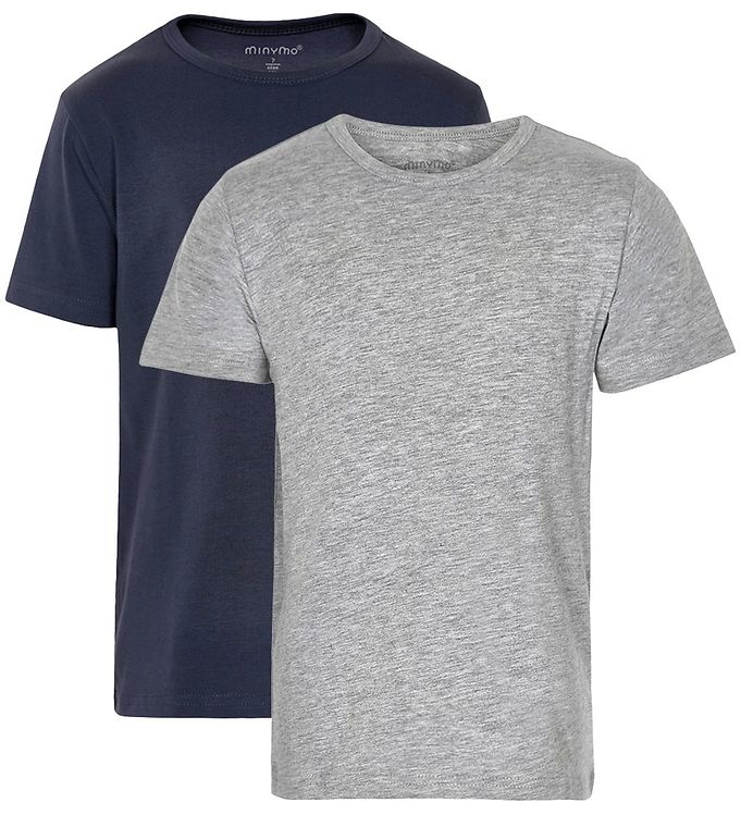 Billede af Minymo 2-Pak T-shirt - Navy/Grå