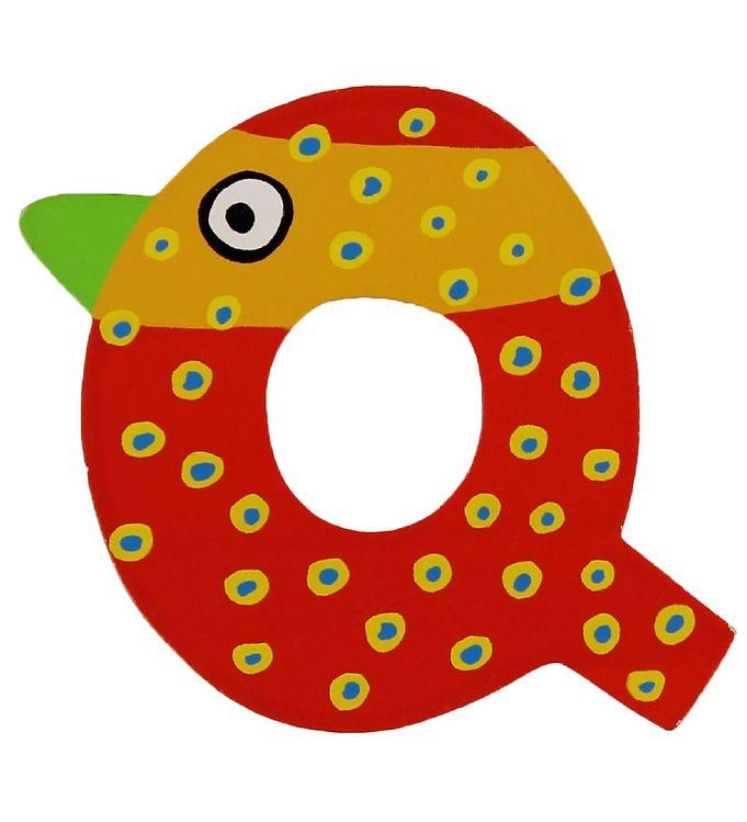 Image of Petit Jour Paris Crazy Bird Bogstav - Q - Rød (ØE154)