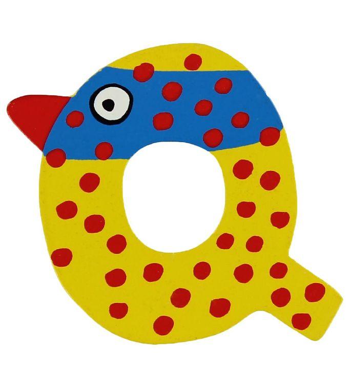 Image of Petit Jour Paris Crazy Bird Bogstav - Q - Gul (ØE155)