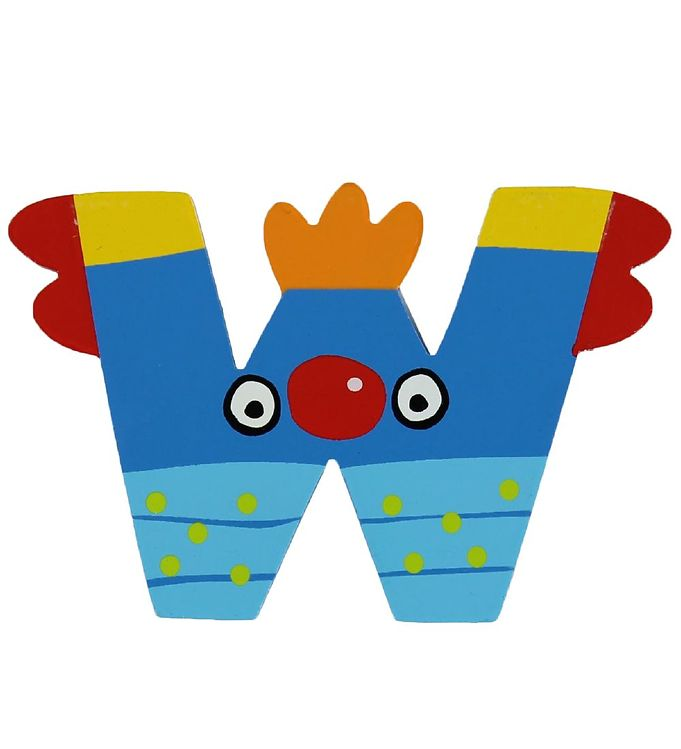 Image of Petit Jour Paris Crazy Bird Bogstav - W - Blå (ØE167)