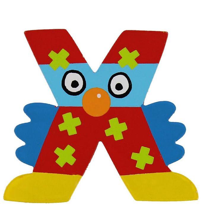 Image of Petit Jour Paris Crazy Bird Bogstav - X - Rød (ØE168)