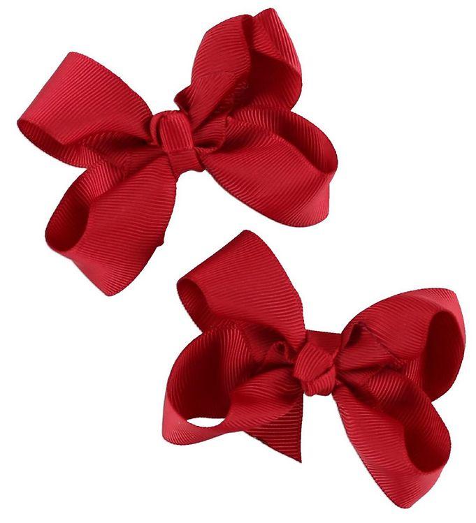 Billede af Bows By Stær Hårsløjfe 2-Pak - 8 cm - Rød