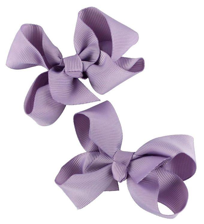 Billede af Bows By Stær Hårsløjfe 2-Pak - 8 cm - Lavendel