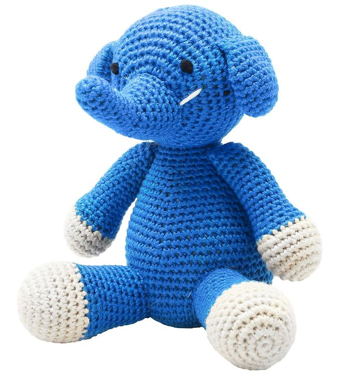 Image of NatureZoo Bamse - Hr. Elefant - 18 cm - Blå (ØF202)