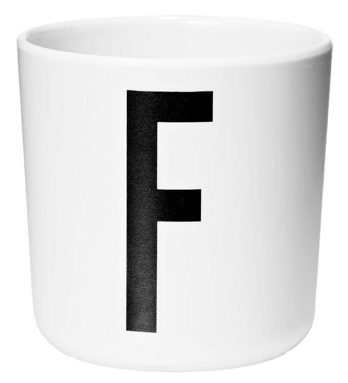 Image of Design Letters Melamin Kop - Hvid m. F (ØF419)