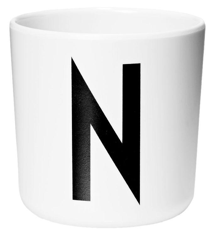 Image of Design Letters Melamin Kop - Hvid m. N (ØF427)