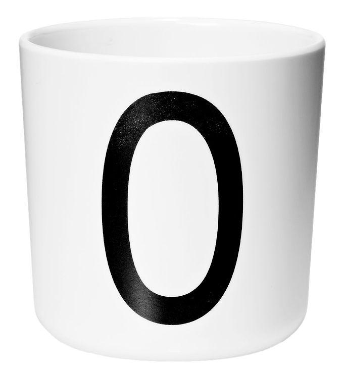 Image of Design Letters Melamin Kop - Hvid m. O (ØF428)