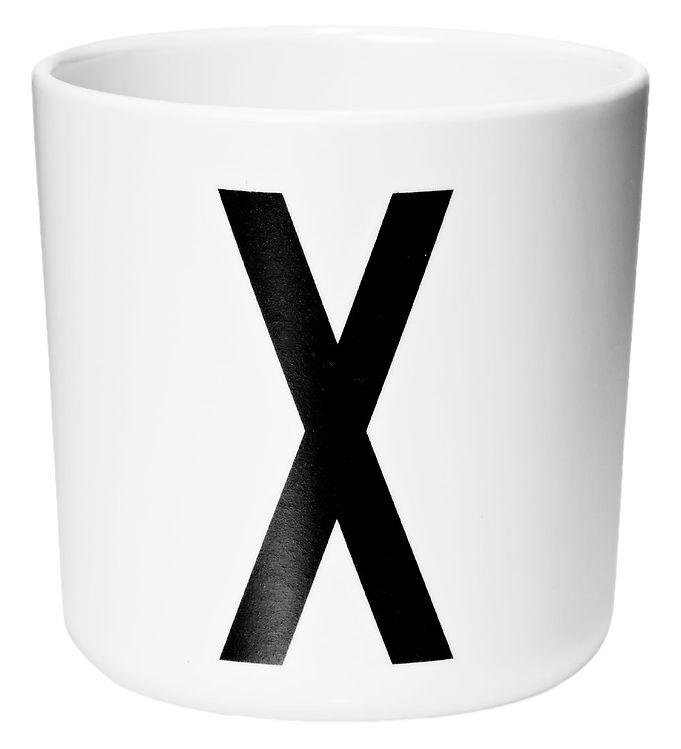 Image of Design Letters Melamin Kop - Hvid m. X (ØF437)