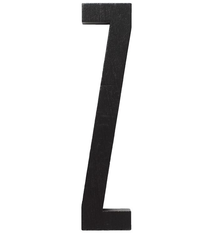 Image of   Design Letters Træbogstaver - Z - Sort