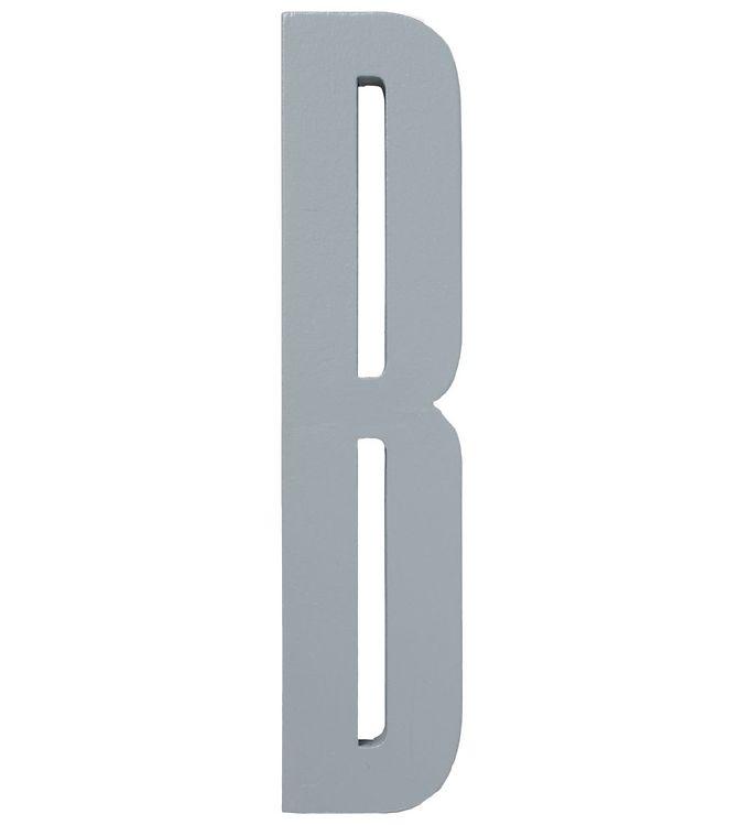 Image of Design Letters Træbogstaver - B - Grå (ØF471)