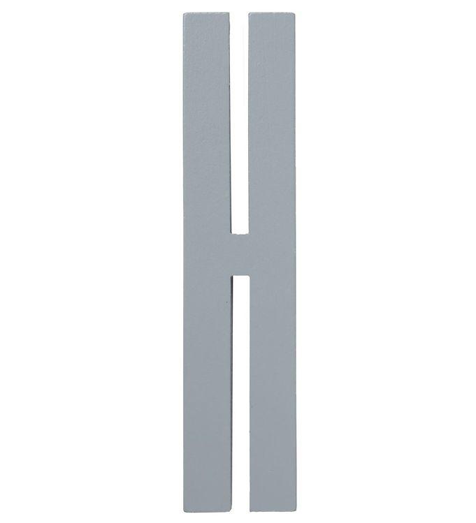 Image of Design Letters Træbogstaver - H - Grå (ØF477)