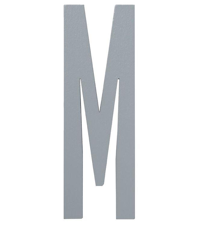 Image of Design Letters Træbogstaver - M - Grå (ØF482)