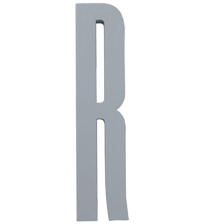 Image of Design Letters Træbogstaver - R - Grå (ØF487)