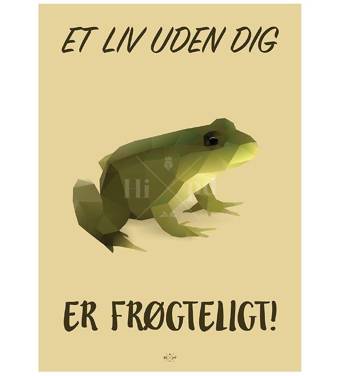 Image of Hipd Plakat - A4 - Frø (ØF713)