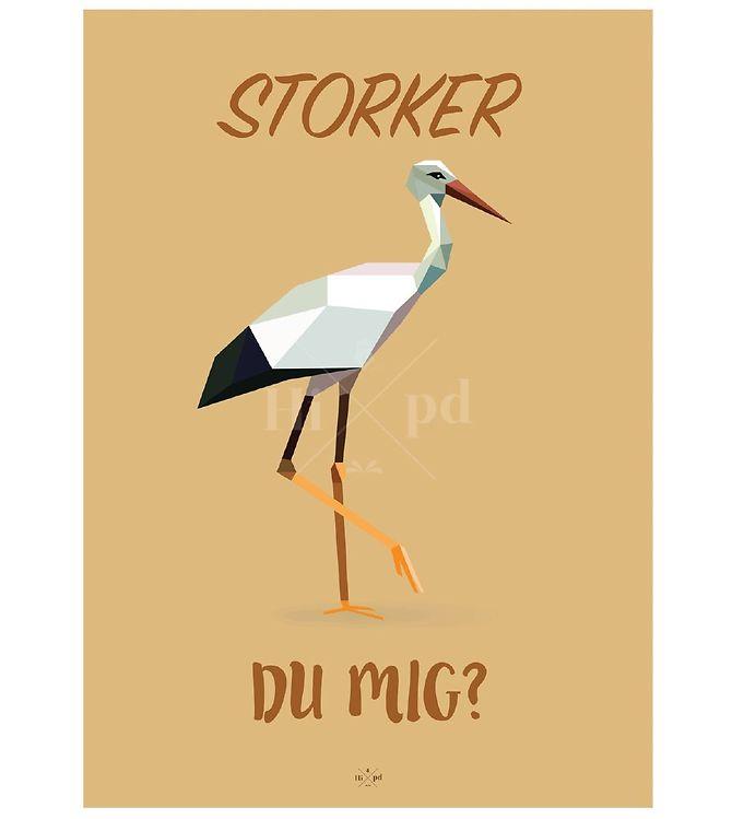 Billede af Hipd Plakat - 50x70 - Stork