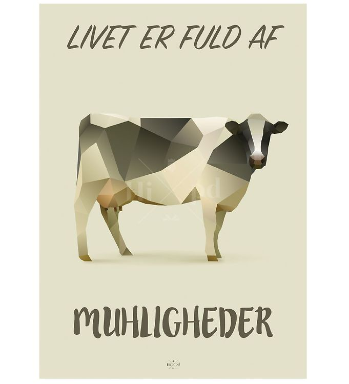 Image of Hipd Plakat - A4 - Cow (ØF724)