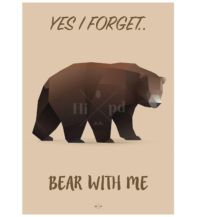 Image of Hipd Plakat - 50x70 - Bear (ØF742)