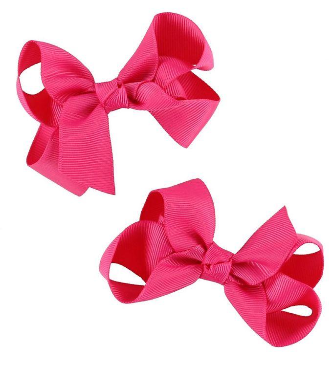 Billede af Bows By Stær Hårsløjfe 2-Pak - 8 cm - Pink