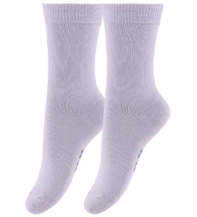 Image of   Fuzzies 2-Pak Strømper - Sart Lavendel
