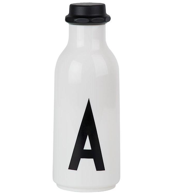 Billede af Design Letters Drikkeflaske - Hvid m. A
