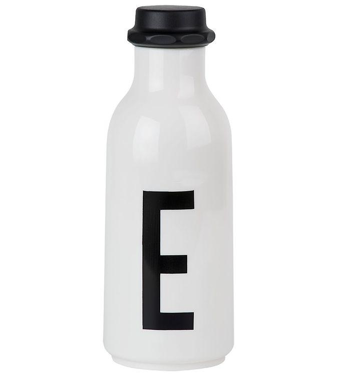 Billede af Design Letters Drikkeflaske - Hvid m. E