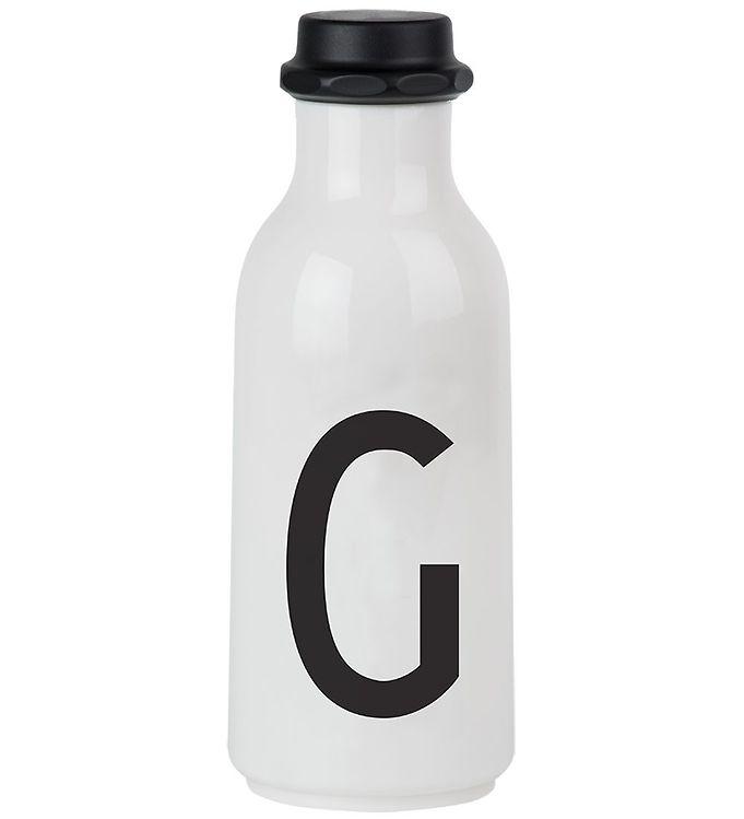 Image of Design Letters Drikkeflaske - 500 ml - Hvid m. G (ØG128)