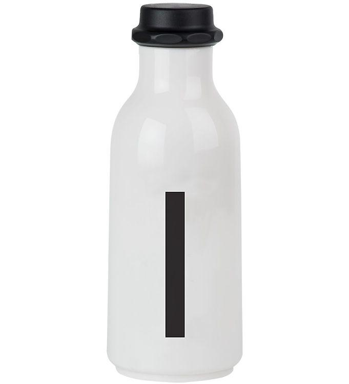 Image of Design Letters Drikkeflaske - 500 ml - Hvid m. I (ØG130)