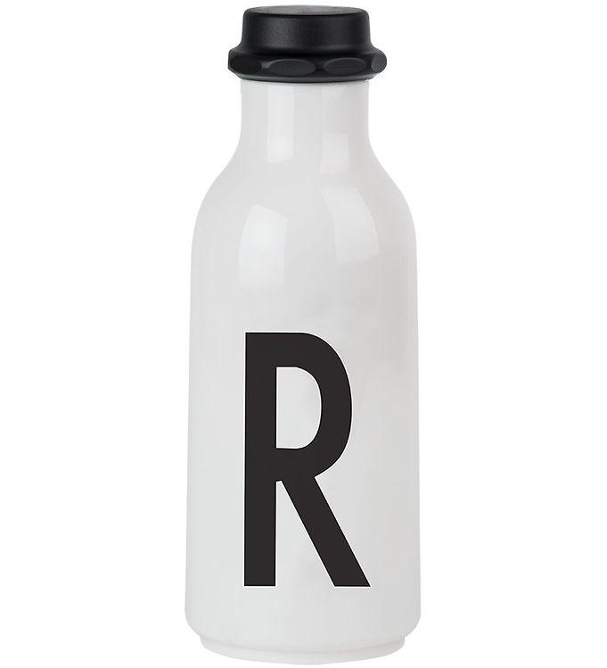 Image of Design Letters Drikkeflaske - 500 ml - Hvid m. R (ØG139)