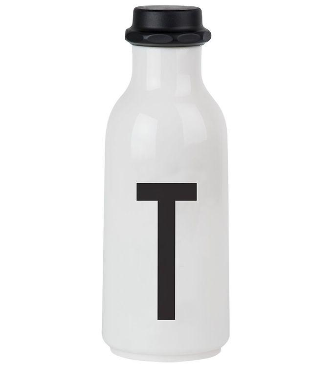 Image of Design Letters Drikkeflaske - 500 ml - Hvid m. T (ØG141)