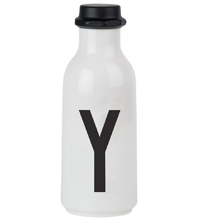 Image of Design Letters Drikkeflaske - 500 ml - Hvid m. Y (ØG146)