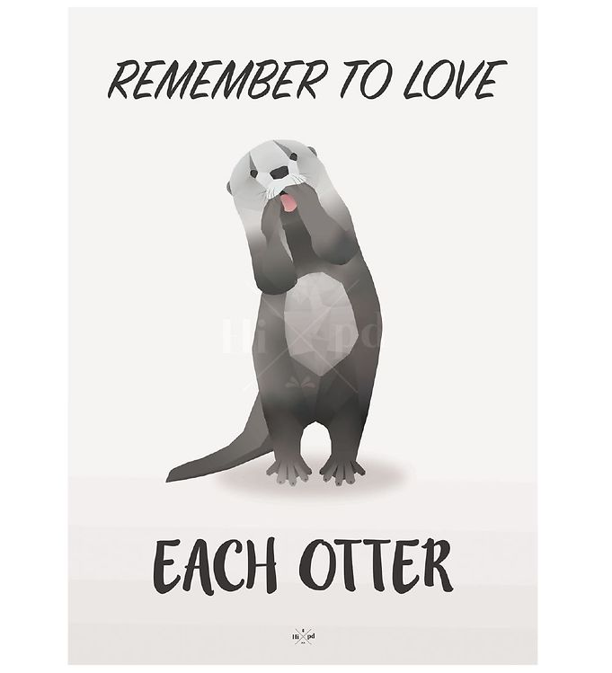 hipd-plakat-a4-love-otter
