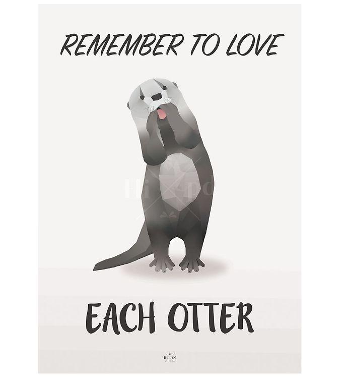 Image of Hipd Plakat - A4 - Love Otter (ØG409)