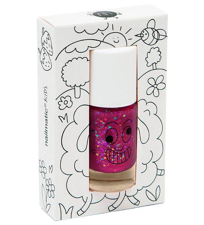 nailmatic Nailmatic neglelak - sheepy - hinbærrød glitter fra kids-world