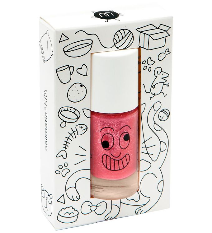 nailmatic Nailmatic neglelak - kitty - pink glitter fra kids-world