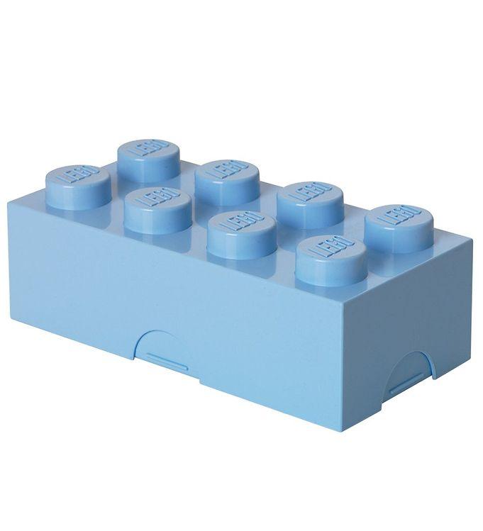 Image of   Lego Storage Madkasse - 8 Knopper - Lyseblå