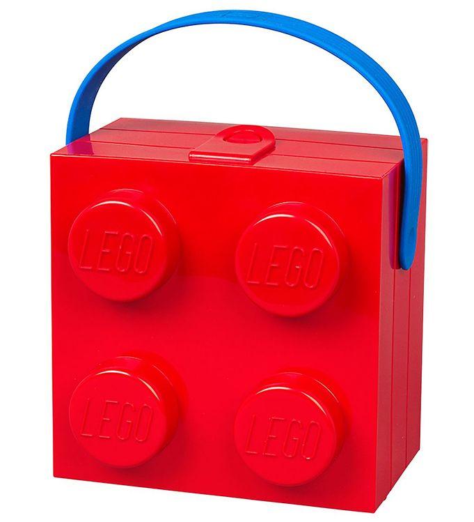 Image of Lego Storage Madkasse m. Hank - 4 Knopper - Rød (ØG684)