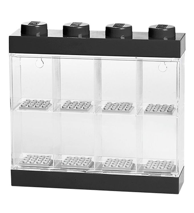 Image of   Lego Storage Minifigur Display - 8 rum - Sort