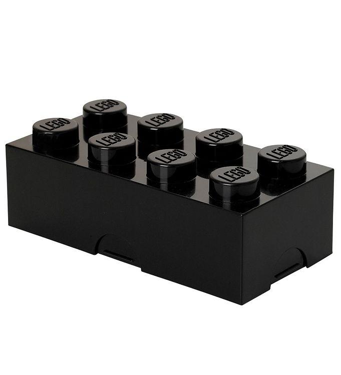 Billede af Lego Storage Madkasse - 8 Knopper - Sort