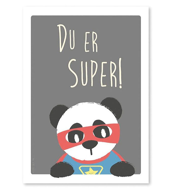 Billede af Studio Circus Plakat - A4 - Panda m. Du Er Super
