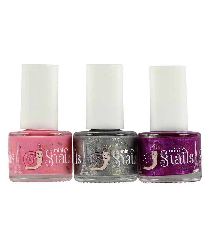 Image of Snails Neglelak - 3-pak - Pinky Pink/Silvermist/Raspberry Pie (ØG764)