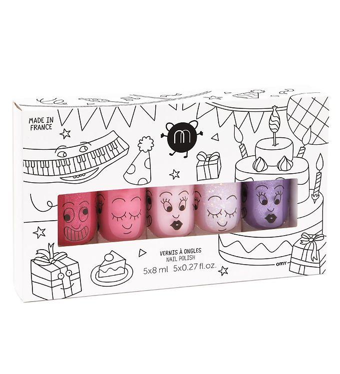 nailmatic – Nailmatic neglelak - 5-pak - pink glitter/pink/pudder/lilla fra kids-world