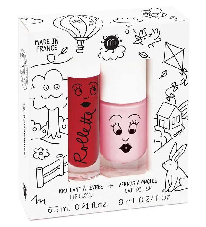 nailmatic – Nailmatic neglelak/lipgloss - pudder/kirsebær på kids-world