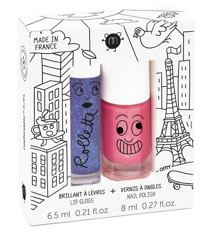 Nailmatic neglelak/lipgloss - pink glitter/solbær fra nailmatic på kids-world