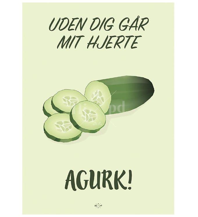Image of Hipd Plakat - A4 - Agurk (ØH330)