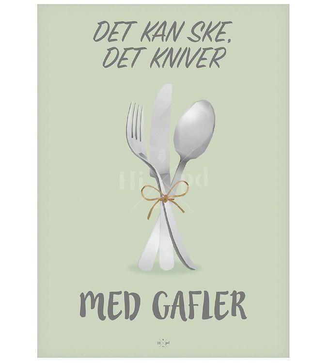 Image of Hipd Plakat - A4 - Ske det Kniver, med Gafler (ØH331)