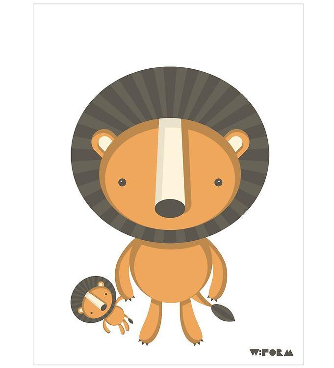 Billede af W:form Plakat - 30x40 - Løve
