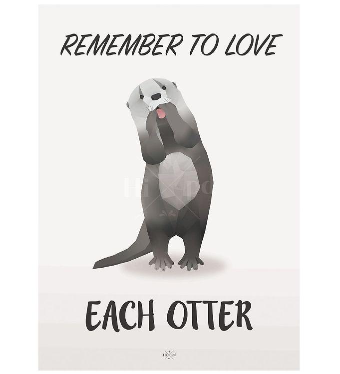 Image of Hipd Plakat - 50x70 - Love Otter (ØH479)